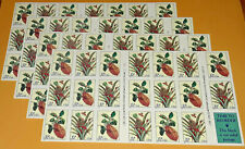 Four x 20 = 80 Of CITRON MOTH & FLOWERING PINEAPPLE 32¢ US PS Stamps # 3126-3127