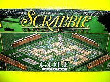 SCRABBLE Classic Crossword Puzzle Board Game GOLF Edition Wood Tiles Hasbro 2000