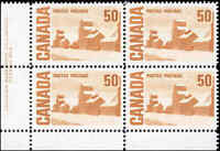 Canada Mint NH VF LF Scott #465Aiv 50c 1967 Block of 4 Stamps