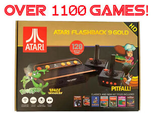 Atari Flashback 9 GOLD HD Console 120 Built in + 1140 Additional Games 2600