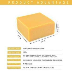 Turmeric Soap Herbal Natural Scrub Oil-Control Mite Soap Skin Care Removal K7A9