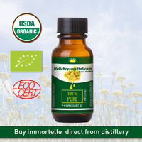 Helichrysum Italicum Organic Certified 100% Pure, Immortelle Essential Oil