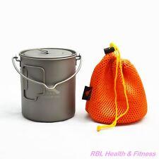 TOAKS Titanium 750ml Bail Handle Pot POT-750-BH - Outdoor Camping Cup Bowl Pot