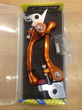 KTM  EXCF  EXC F 530   2008-2011    FLEXI FLEXIBLE LEVER LEVERS SET  ORANGE