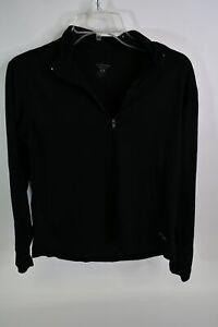 Patagonia Capilene Men's Black 100% Polyester Zip-Neck Long Sleeve Shirt Size M