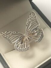 Sterling Silver Large Butterfly Ring Size K