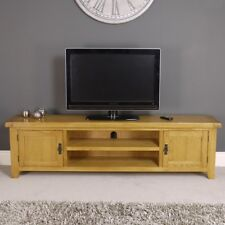 Arklow Oak Extra Large TV Stand / Brown Solid TV DVD Cabinet Storage Unit