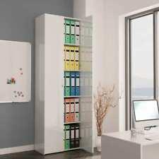 Office Cabinet High Gloss White 60x32x190 Cm Chipboard vidaXL