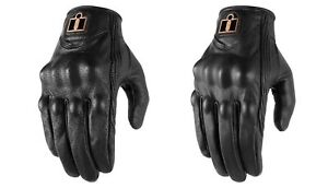 Icon Pursuit Classic Men's Leather Gloves for Street Motorcycle Riding