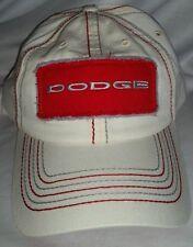 #493 Dodge Ram Cream & Red Adjustable Back Hat-NWOT