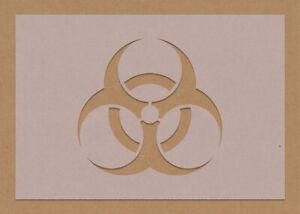 Biohazard Symbol Hazard Stencil Toxic Decor A6 A5 A4 A3
