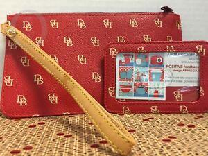 Dooney & Bourke*Wristlet & Matching I.D. Holder *Red*17287M S167A