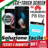 DISPLAY LCD+TOUCH SCREEN ORIGINALE PER HUAWEI P8 LITE ALE-L21 SCHERMO VETRO 24H!