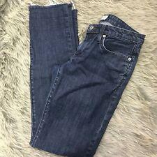 Helmut Lang Womens Straight Leg Raw Hem Jeans Size 27 Cotton Blend Denim