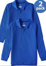 2-pack Wonder Nation Boys Long Sleeve Polo School Uniform Shirts 8