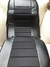 Seat Cover w/Pocket- All Black  Faux Leather Peterbilt Freightliner Semi Truck