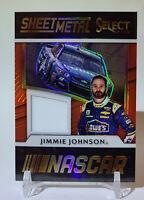 2017 Panini Select Racing Jimmie Johnson Sheet Metal Relic Prizm #SM-JJ  Red /49