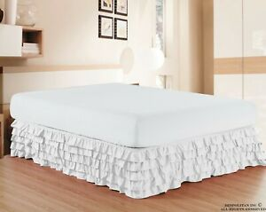 Luxurious Premium Quality 1500 TC Egyptian Quality Multi-Ruffle Bed Skirt 15 inc