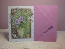 Carol's Rose Garden -  Sympathy card - A Vase of Beautiful Flowers  on front