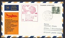 1971 LuftHansa First Flight Cover Japan Tokyo to Greece Athen w/ Special Cachet