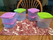 New TUPPERWARE 6 Pc Fresh 'N Cool Small & Medium Containers Set ~ 2 & 4 1/2-Cup