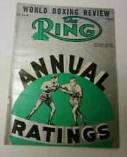 THE RING FEB 1955 WORLD RANKINGS COVER BOXING MAGAZINE RARE COOL GOOD CONDITION