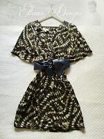 NWT! WITCHERY Silk Print Kimono Kaftan Slouch Spring Cocktail Dress Sz 8 $189