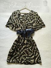 Witchery Silk Print Kimono Kaftan Slouch Spring Cocktail Dress Sz 8