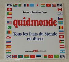 CD-Rom QUIDMONDE 1997 : Tous les ETATS du MONDE en DIRECT - F. et D. FREMY