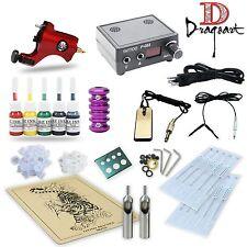 Pro Tattoo Kit Rotary tattoo Machines Guns Power supply Ink TK5