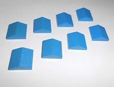 Lego (3300) 8 plana dachfirste 33 ° 2x2, en azul de 10017 6991 4533 6362 4407