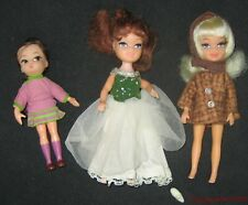 Vintage Hipster Dolly Darling and 2 Uneeda Tiny Teen Doll Lot