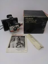 Vintage Polaroid Colorpack 80 Instant Camera & Flash *Complete with Box*