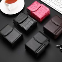 PU Leather Cigarette Case Tobacco Pouch Box Lighter Holder Storage Container Hot