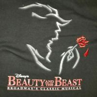 SMALL Beauty And The Beast Broadway Musical T-shirt: Disney Punk Rock Retro NYC