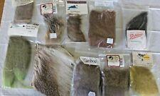 10 Pcs Fur & Hair Deer Elk Badger Moose Beaver Caribou Fly Tying Hooks Materials