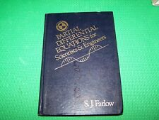 Partial Differential Equations for Scientists and Engineers. Farlow