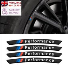 BMW M Performance Alloy Wheel Badges x4 Black