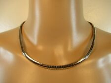 "Vintage 925 Sterling Silver Milor Italian Omega Style Necklace 18"" Retro (#1219)"