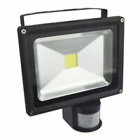 LED 20w Floodlight PIR Security 1400 Lumen 6000k Day White Waterproof E03