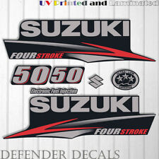 Suzuki 50 hp Four Stroke outboard engine decal sticker set kit reproduction 50HP