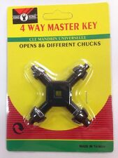 Universal Chuck Key Drill 4 In 1 Way Master Key Power Presses Tool Replacement