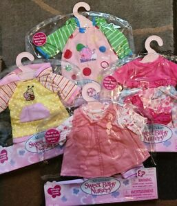 """New - Lot of 4 - Madame Alexander Sweet Baby Nursery Outfit fits 12- 14"""""""
