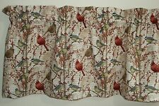 Feathered friends Curtain Valance *Cardinals on Berry Branches*Hot print