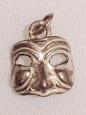 pendentif argent 925/1000 masque vénitien chaine offerte 4034