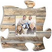 P. Graham Dunn Puzzle Piece Print Frame Panel Art Natural Wood