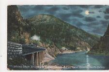Whites Creek Bridge & Fraser Canon Canadian Pacific Railway 1907 Postcard 420a