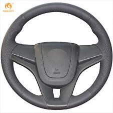 Black Leather Steering Cover for Chevrolet Cruze 2009-2014 Aveo Holden Cruze