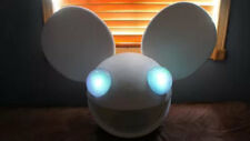 Deadmau5 helmet head in White Halloween costume with lights dead mouse costume