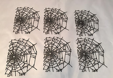 Tim Holtz Halloween Die Cuts: NEW Intricate Cobweb * 6 Black Cardstock Cobwebs !